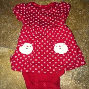 Christmas red Carters one piece 9months